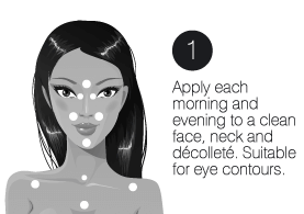 How to use step1 infinity cream facelift